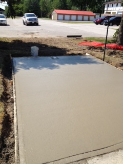Cement Poured May 28 2