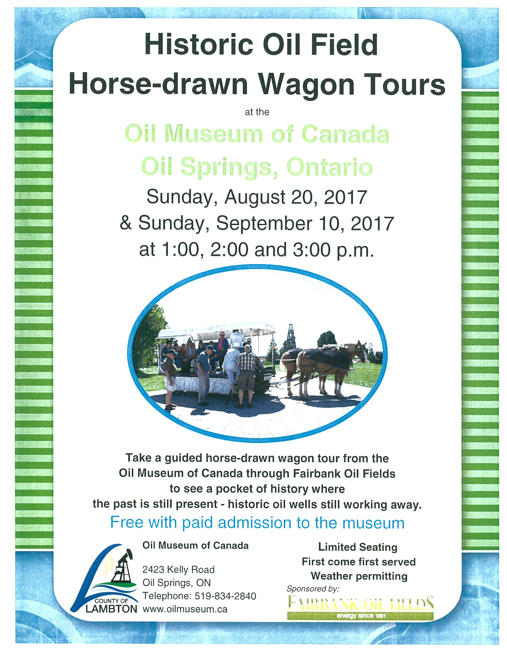 Horse-Drawn Wagon Tours @ Oil Museum of Canada