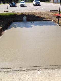 Cement poured May 28