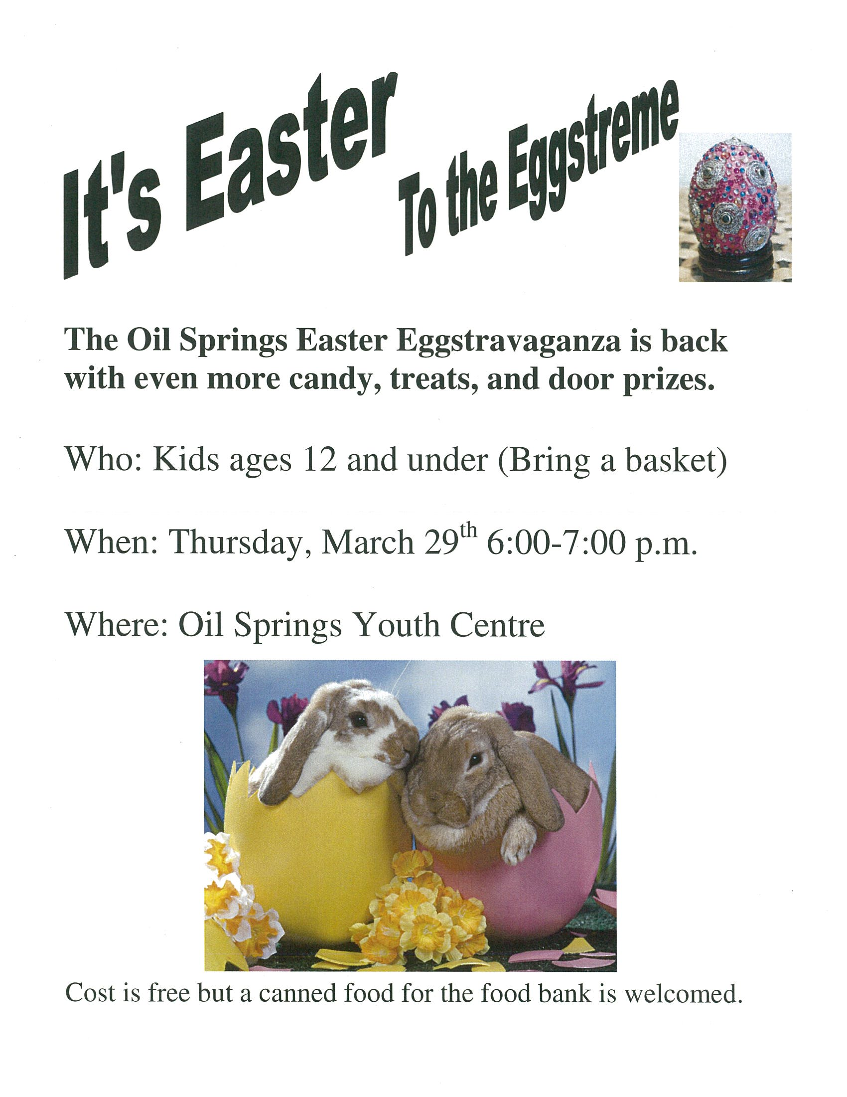 Easter Eggstravaganza @ Oil Springs Youth Centre | Oil Springs | Ontario | Canada