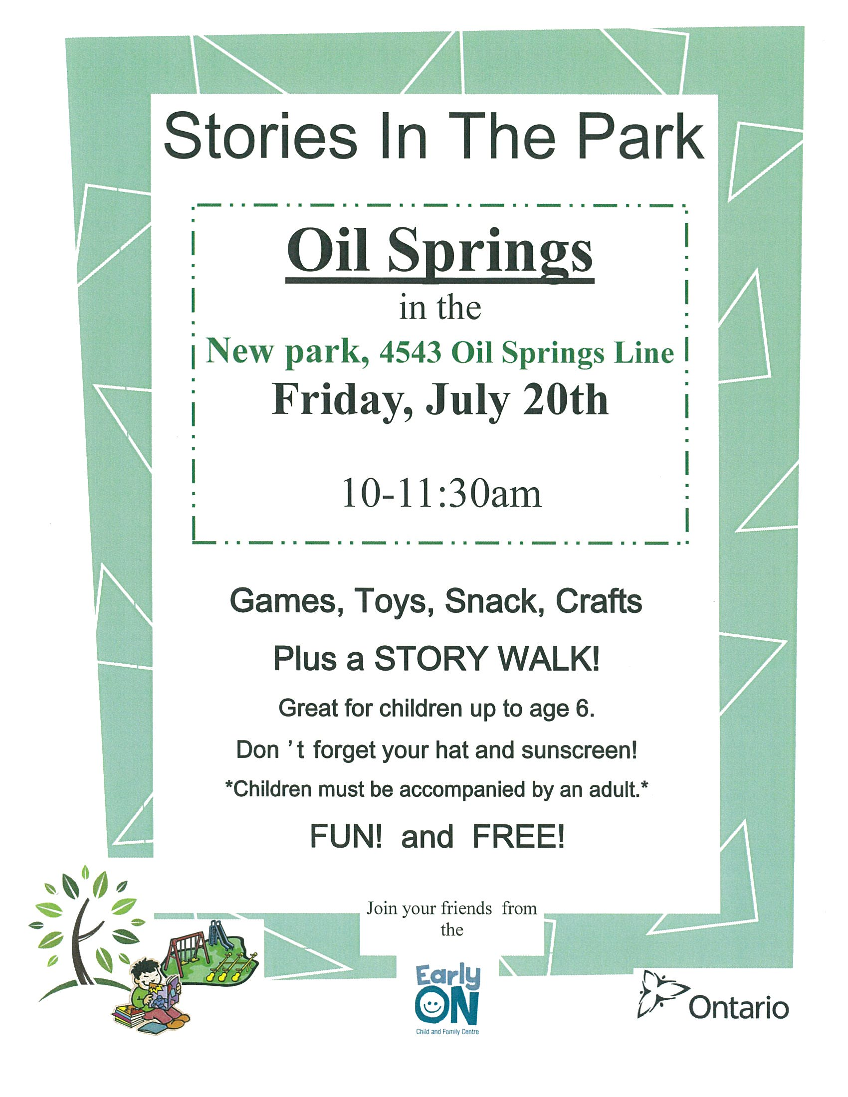 Stories in the Park @ Park | Oil Springs | Ontario | Canada