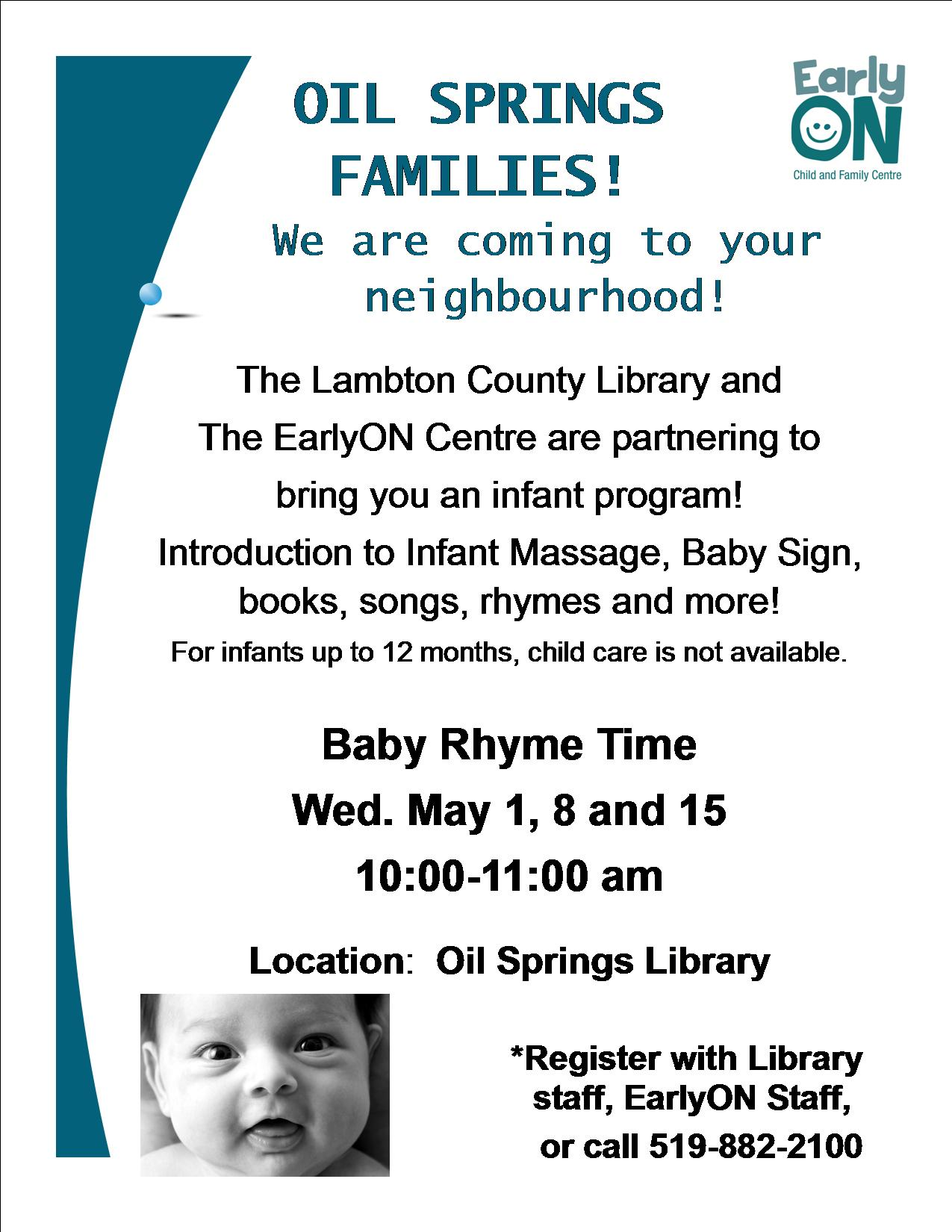 Baby Rhyme Time @ Oil Springs Library
