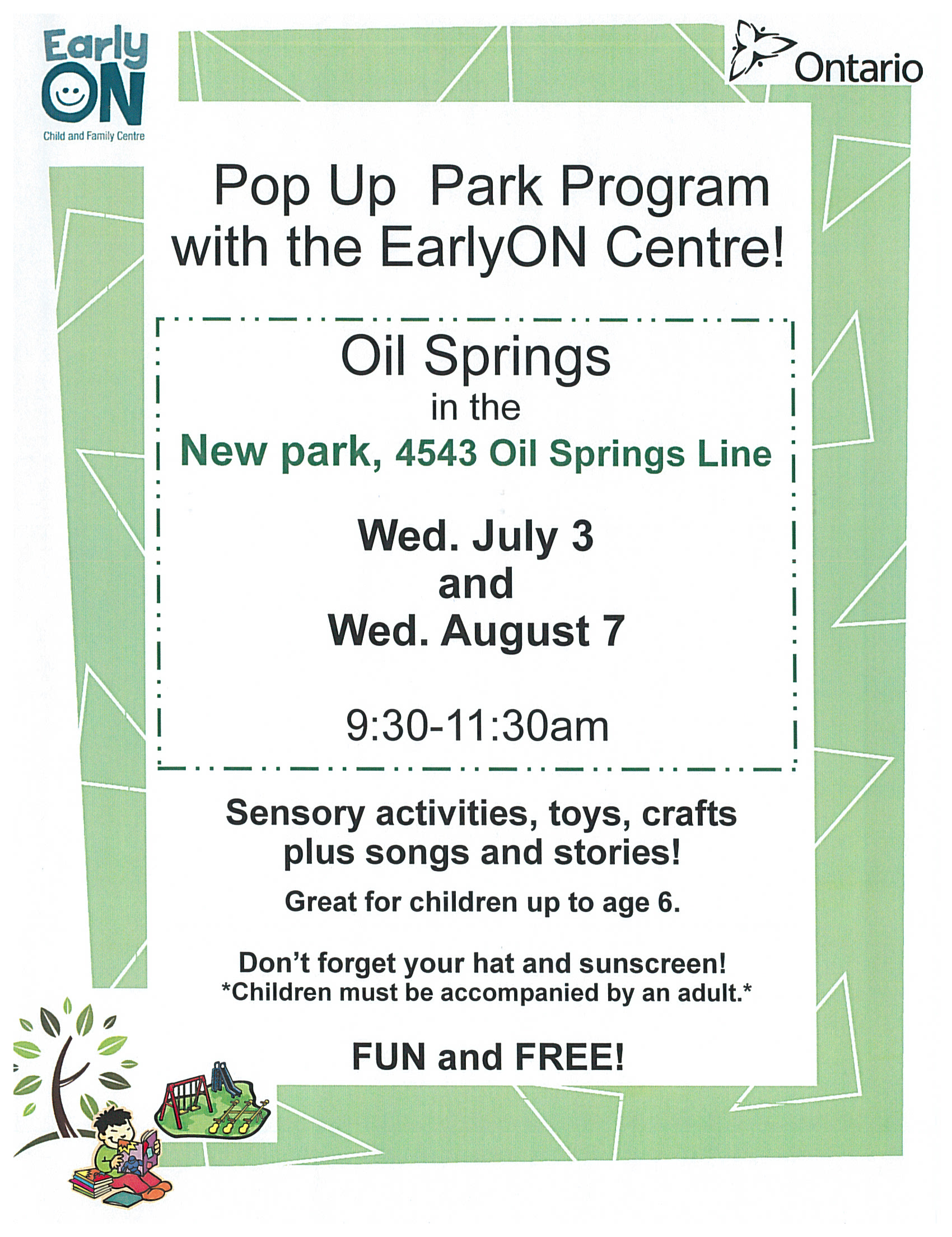 Pop Up Park Program