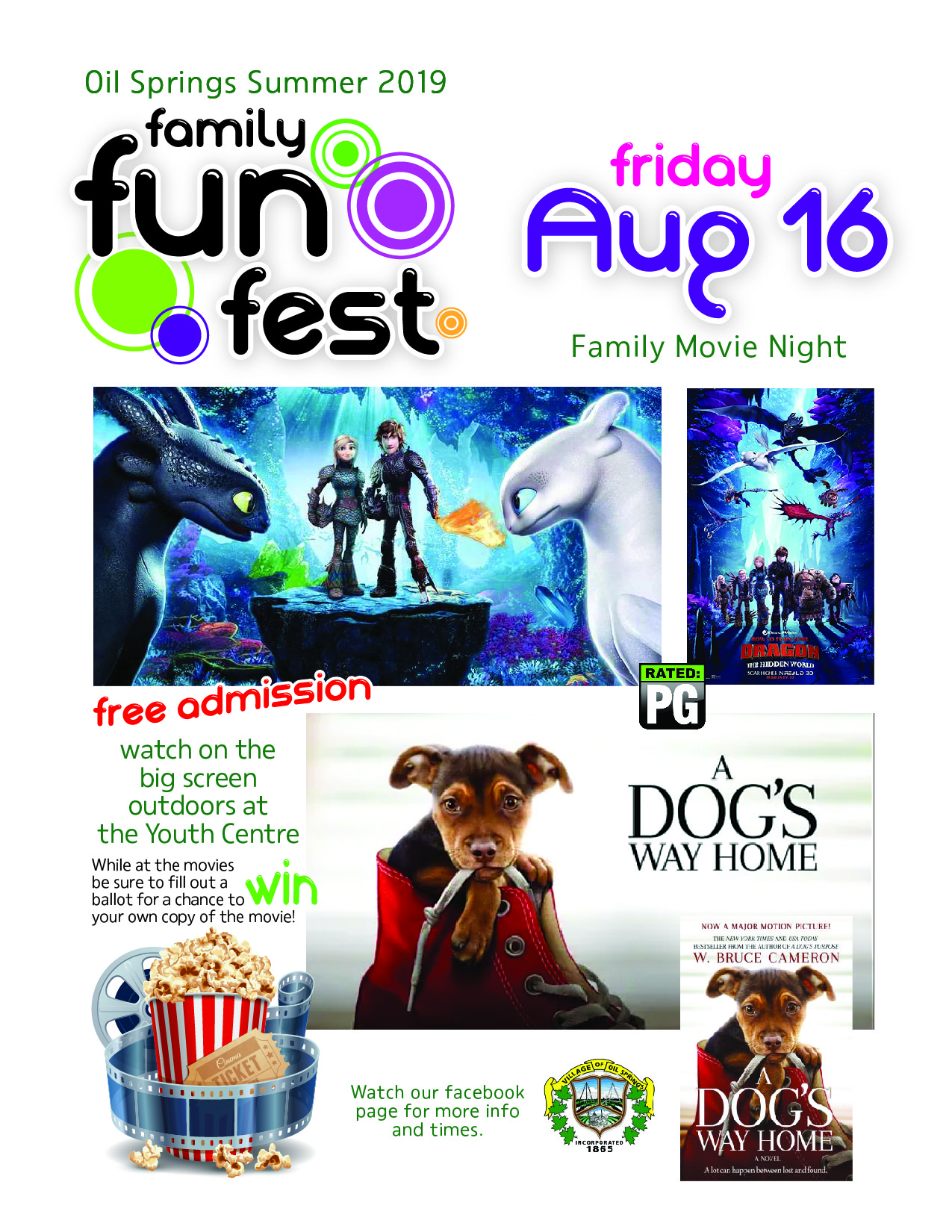 Family Fun Fest Movie Night @ Youth Centre Grounds