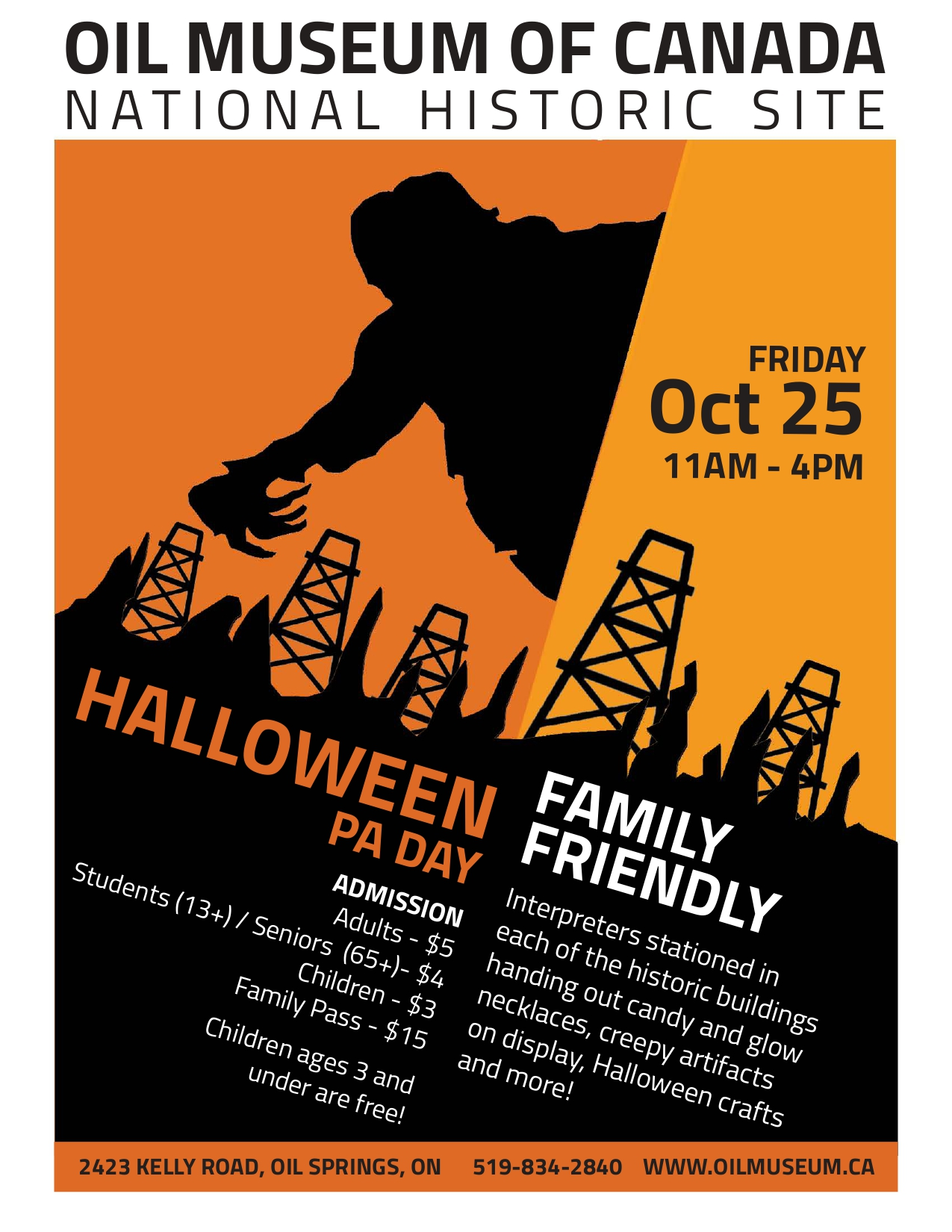 Halloween PA Day @ Oil Museum of Canada