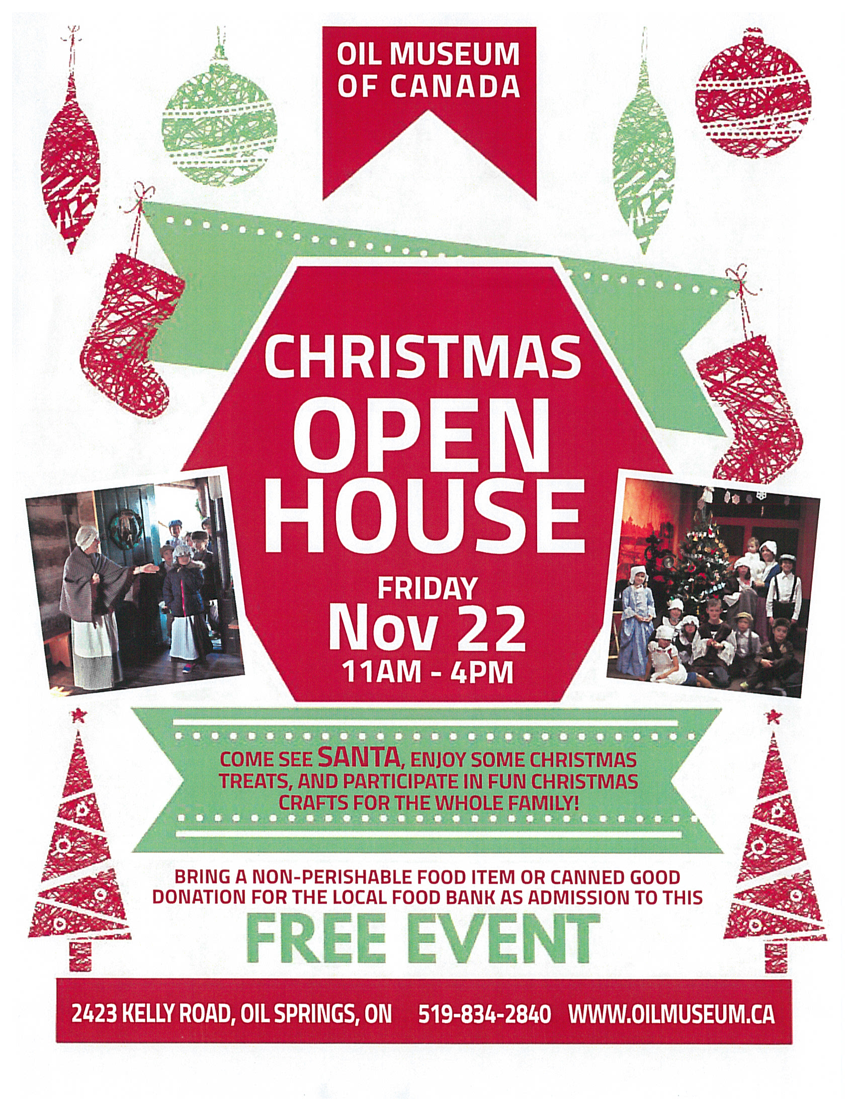 Christmas Open House @ Oil Museum of Canada