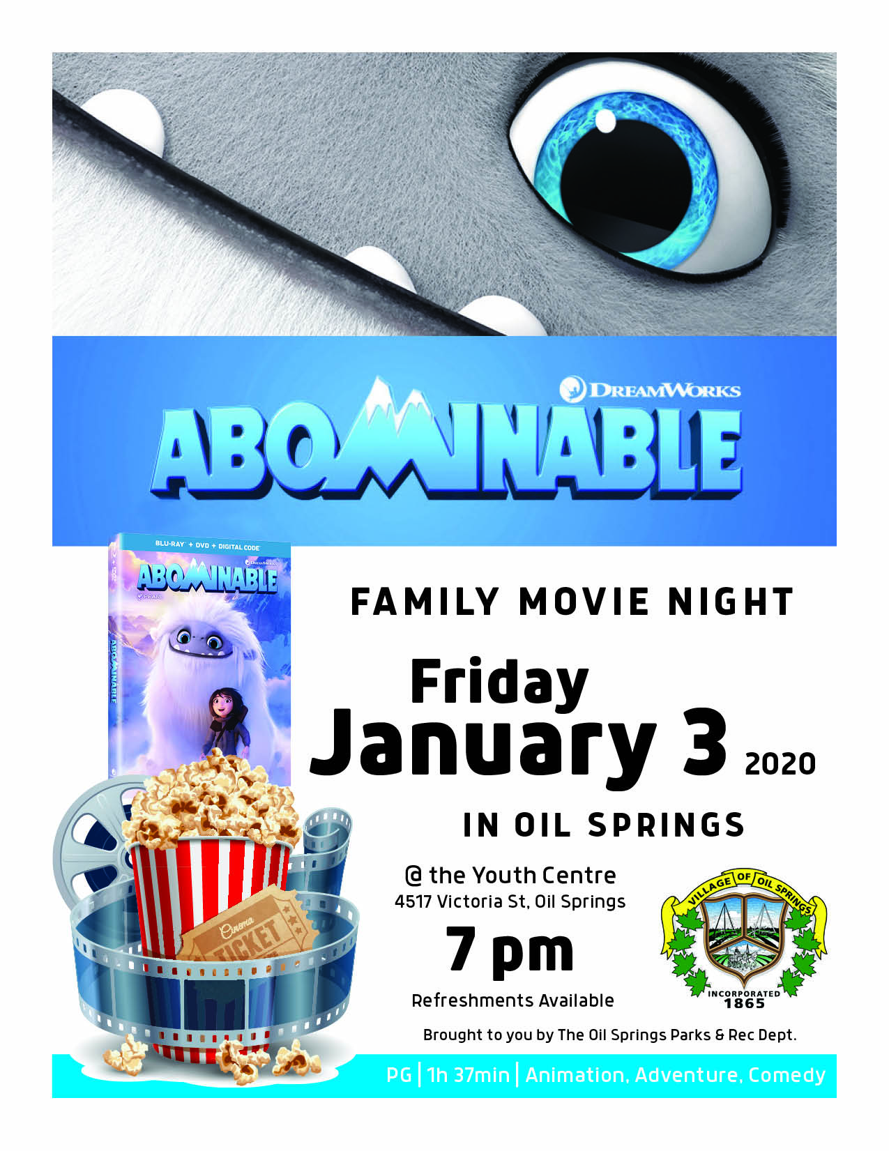 Family Movie Night @ Oil Springs Youth Centre